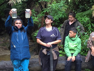 Rangatahi learning about taiao through the Ngāti Porou biocultural camp