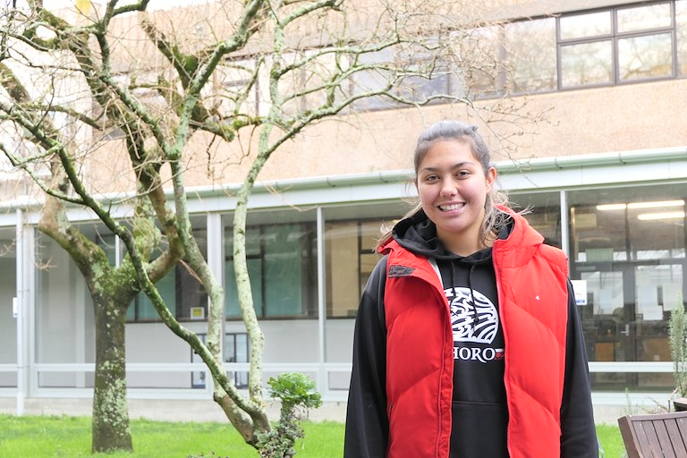 Pūhoro STEM Academy student, Meschka Seifritz was a key speaker at the Ka Hao te Rangatahi – STEM Futures Symposium held at Massey University recently.