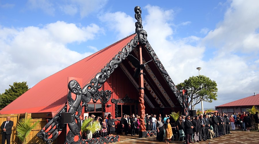 Chinese dignitaries welcomed onto Ōrākei Marae for the Taniwha and dragon Festival, 2013.