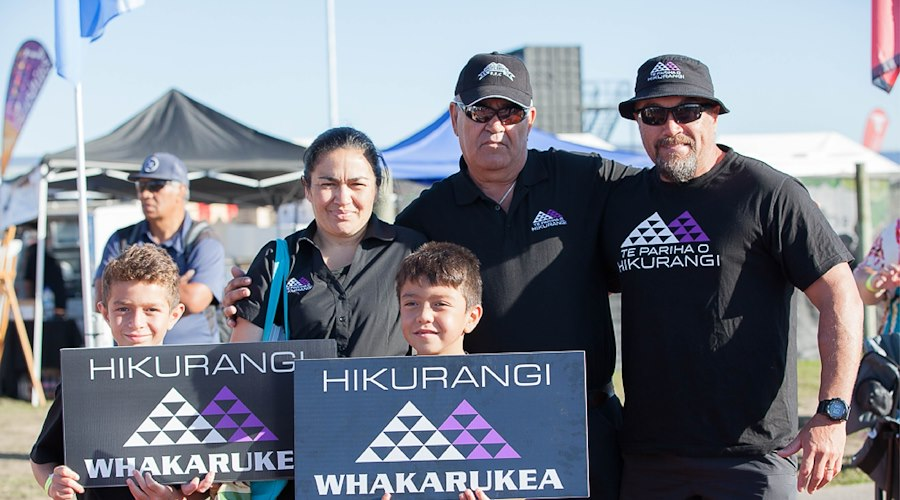 Te Pariha o Hikurangi supporters at Te Matatini in Hastings, 2017.